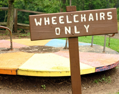 Playground roundabout for wheelchairs only